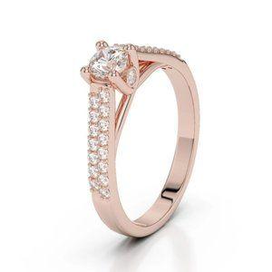 Jewelry - 14K Rose gold prong 1.90 carats sparkling diamonds
